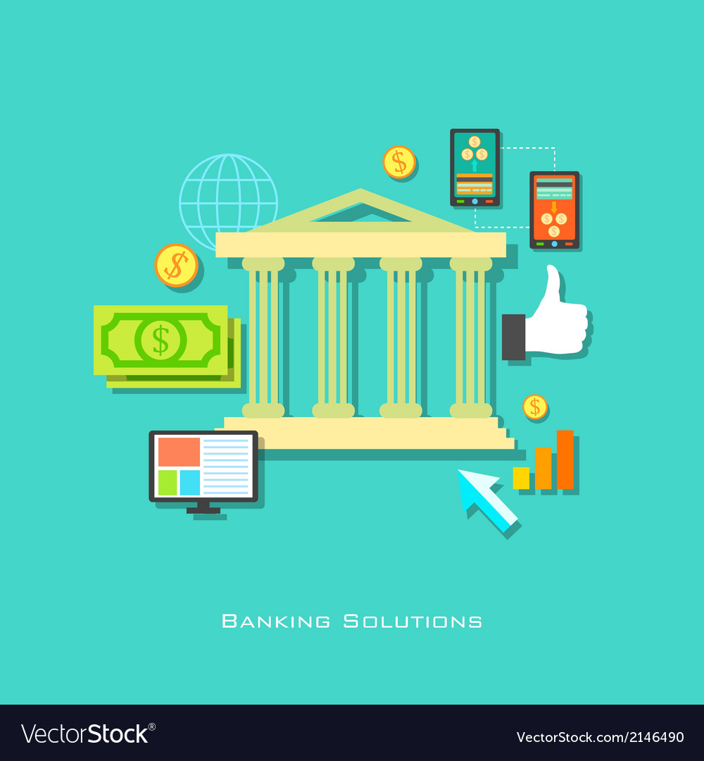 Banking solution concept vector | Price: 1 Credit (USD $1)