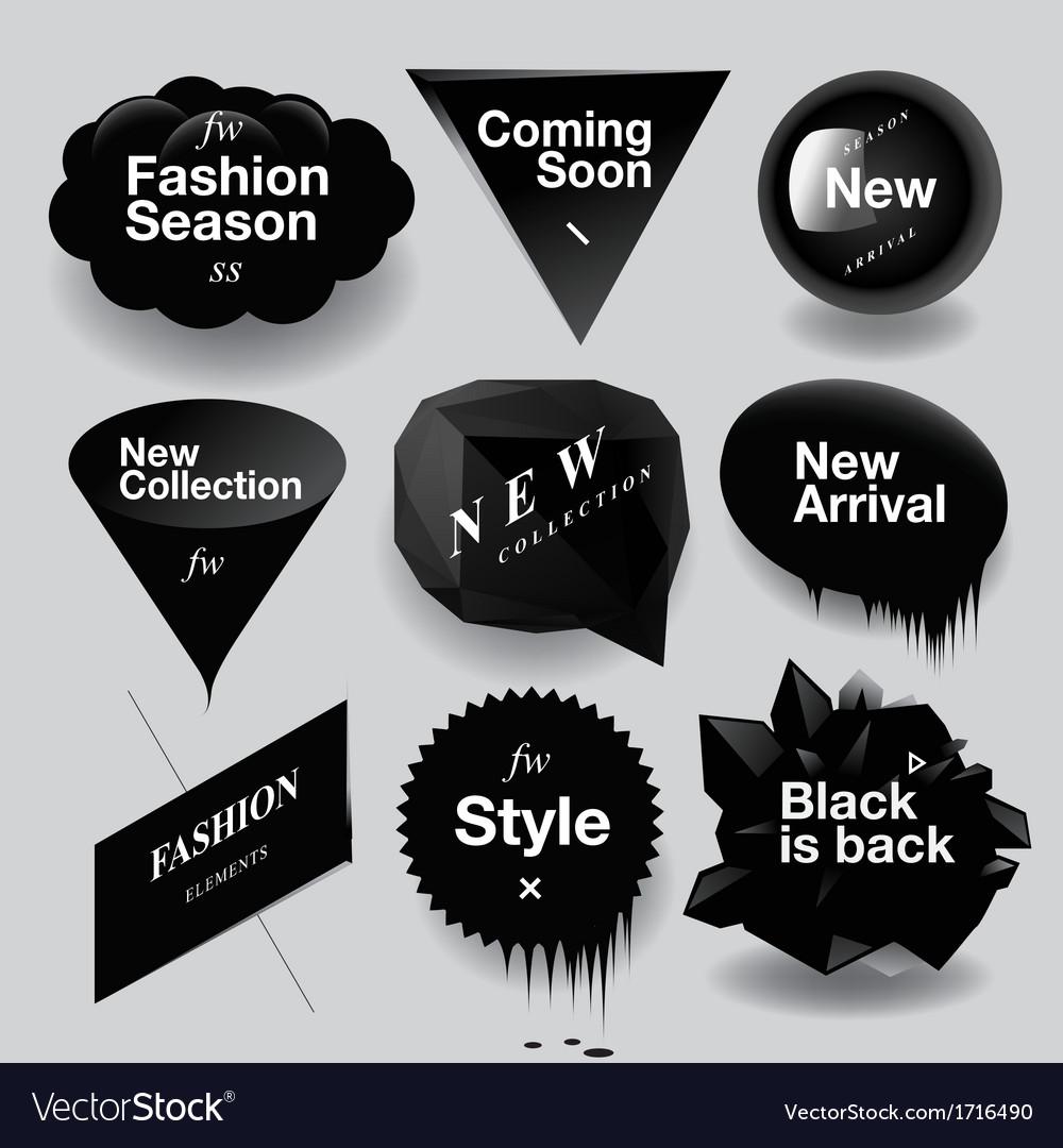 Fashion sale speech bubbles set vector | Price: 1 Credit (USD $1)