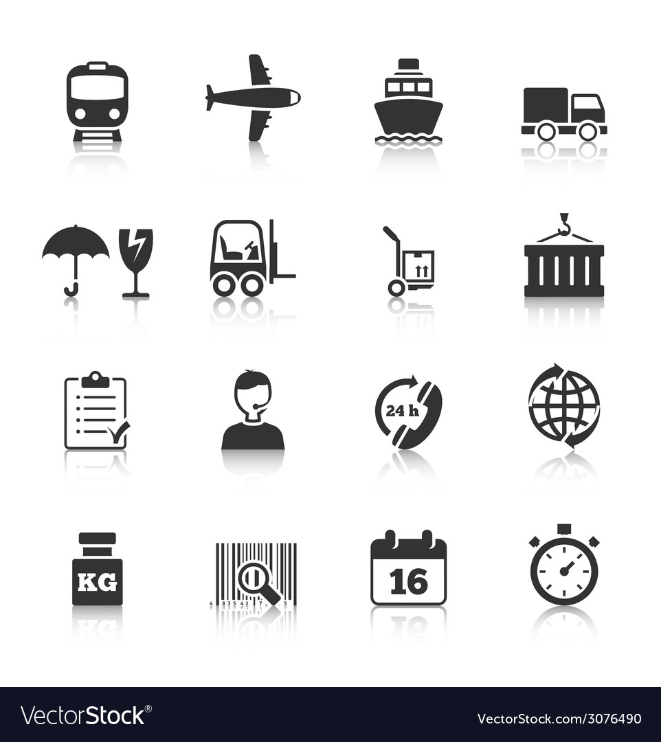 Logistics icons set vector | Price: 1 Credit (USD $1)