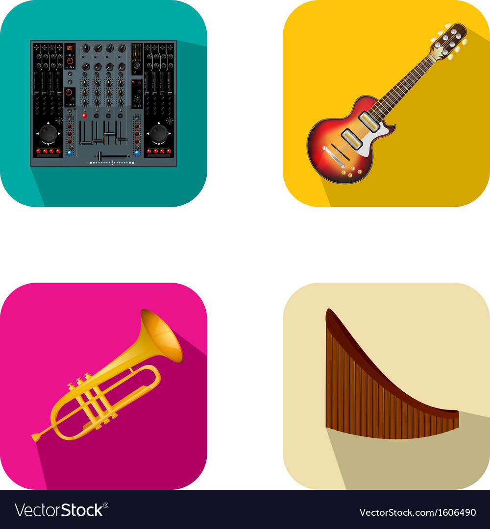 Music and party icons 4 vector | Price: 1 Credit (USD $1)