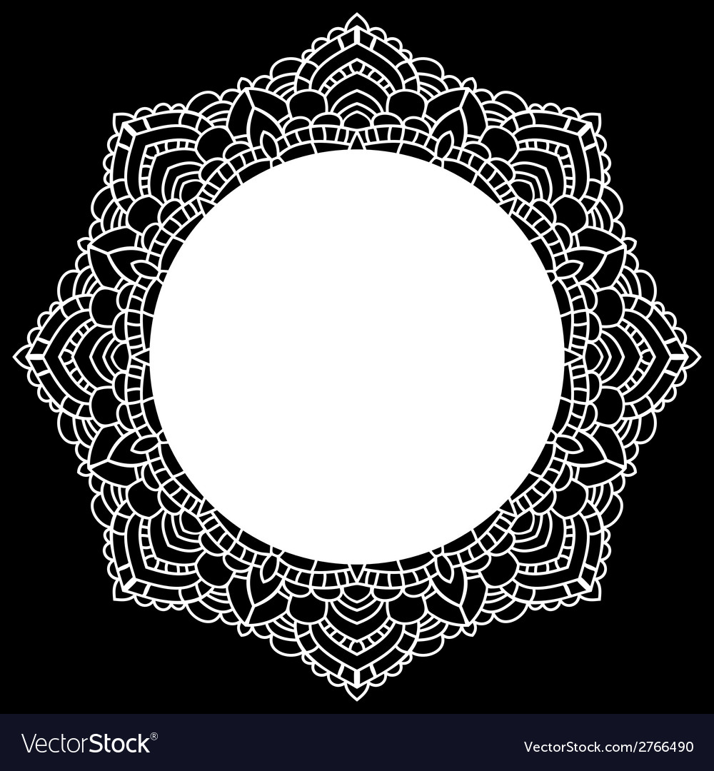 Round lace pattern mandala vector | Price: 1 Credit (USD $1)