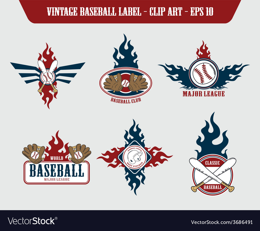 Baseball label sticker vector | Price: 1 Credit (USD $1)