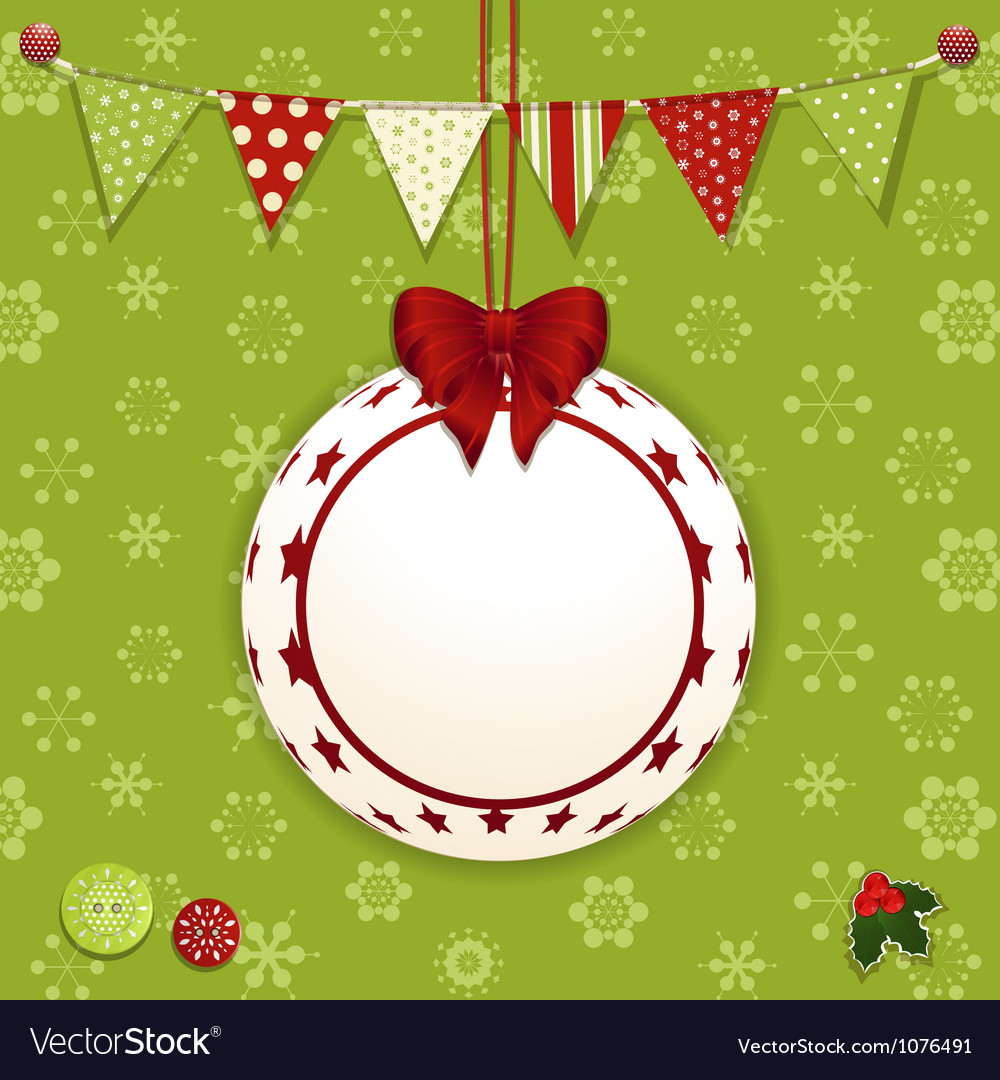 Christmas bauble and background vector | Price: 1 Credit (USD $1)