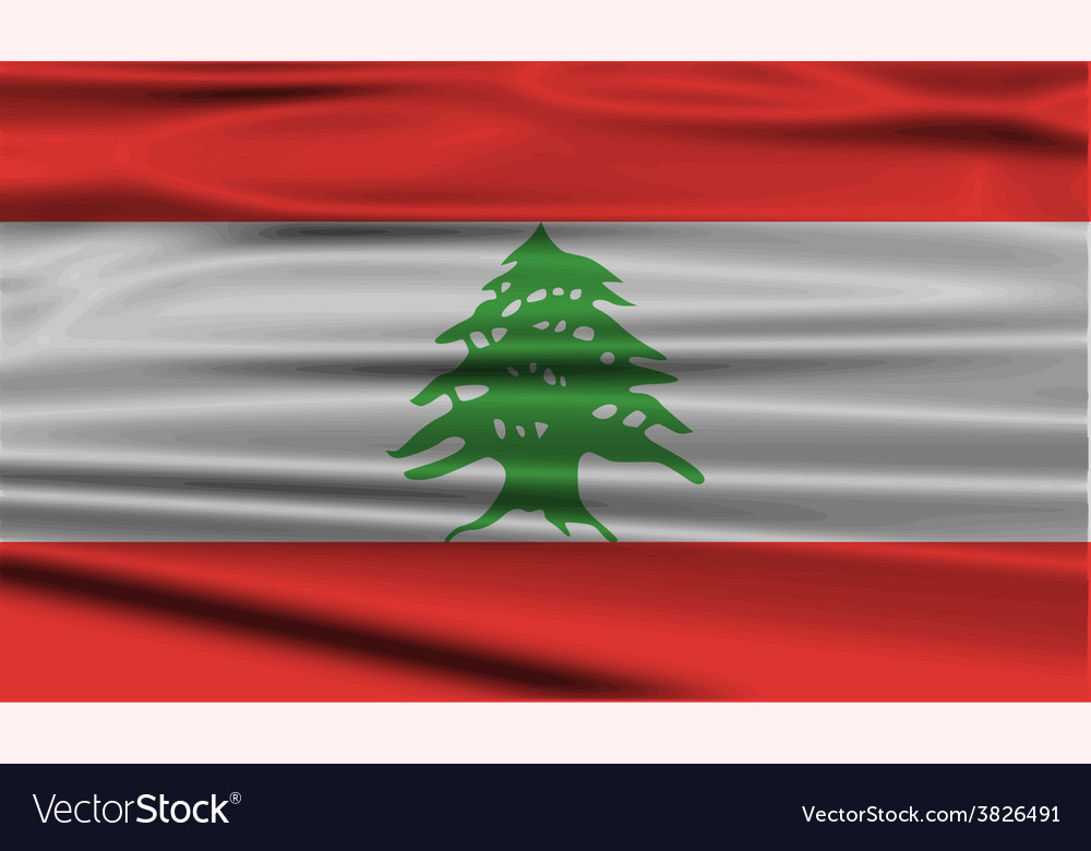 Flag of lebanon with old texture vector | Price: 1 Credit (USD $1)