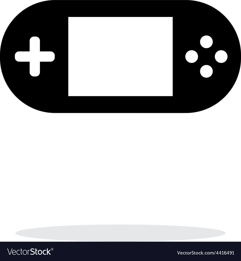 Gamepad screen simple icon on white background vector | Price: 1 Credit (USD $1)