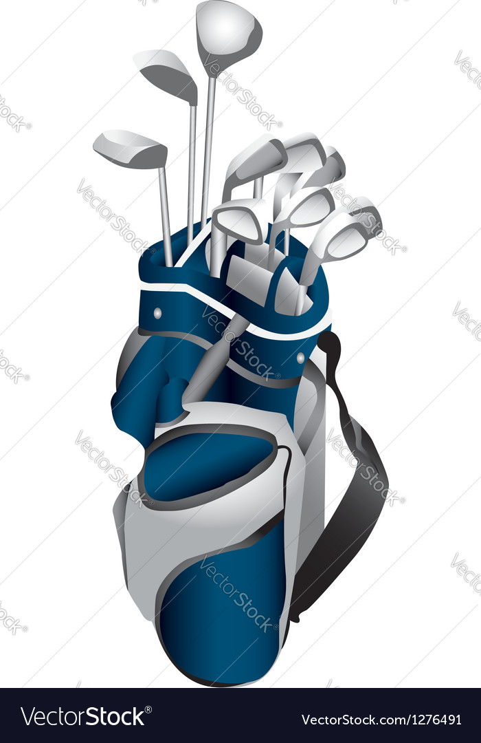 Golf clubs in bag vector | Price: 1 Credit (USD $1)