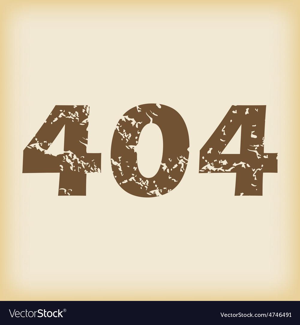 Grungy 404 icon vector | Price: 1 Credit (USD $1)