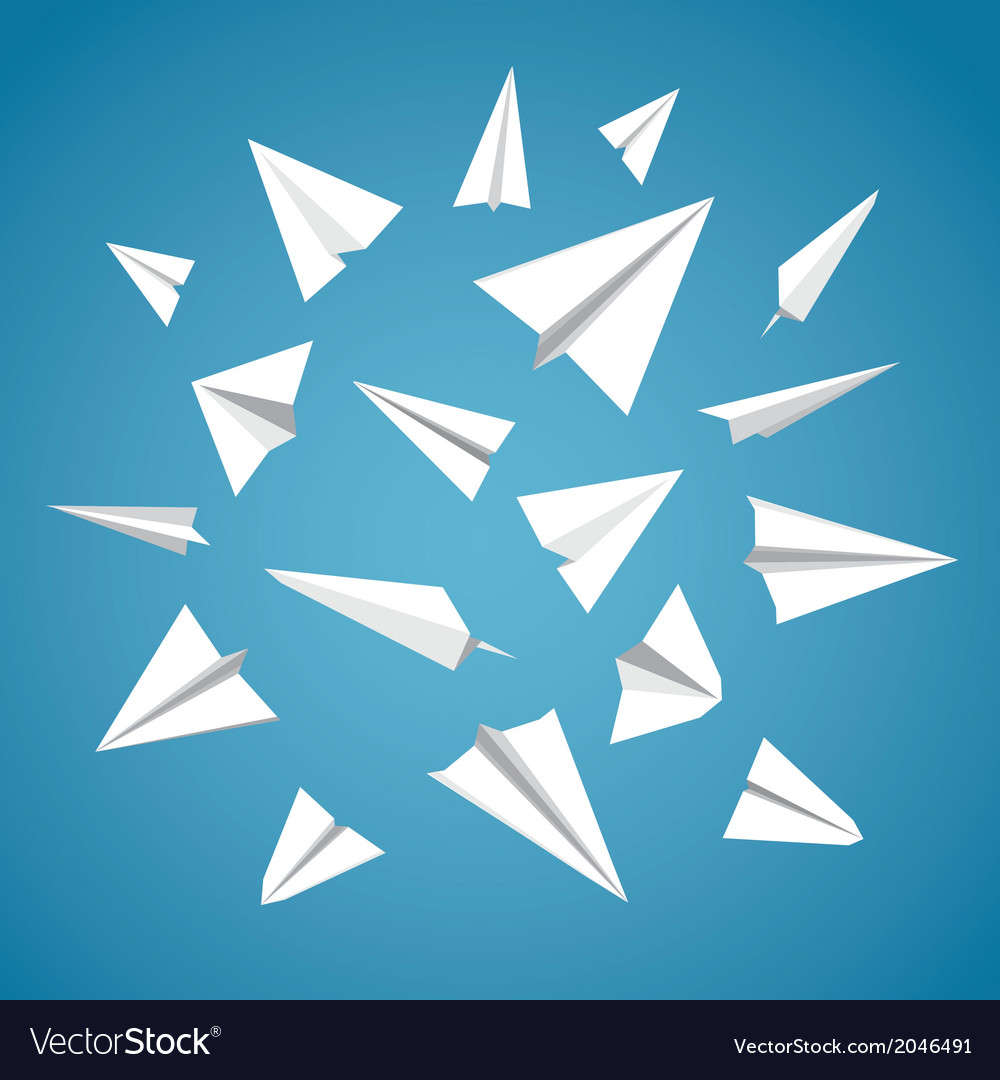 Paper planes set vector | Price: 1 Credit (USD $1)