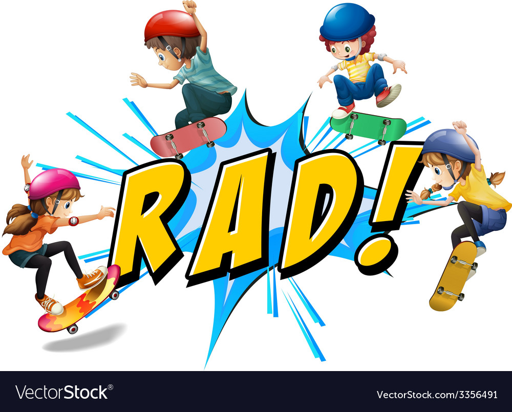 Rad kids vector | Price: 3 Credit (USD $3)