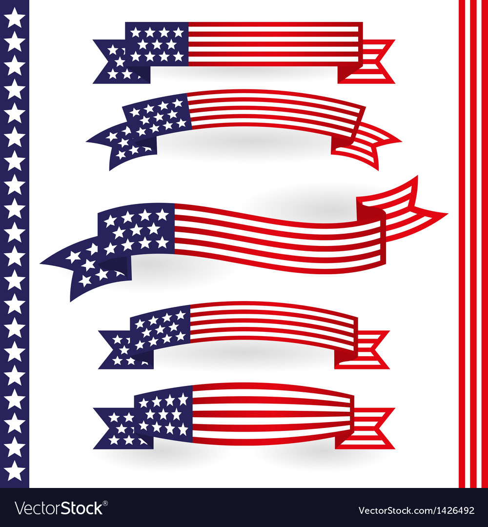 American ribbons vector | Price: 1 Credit (USD $1)