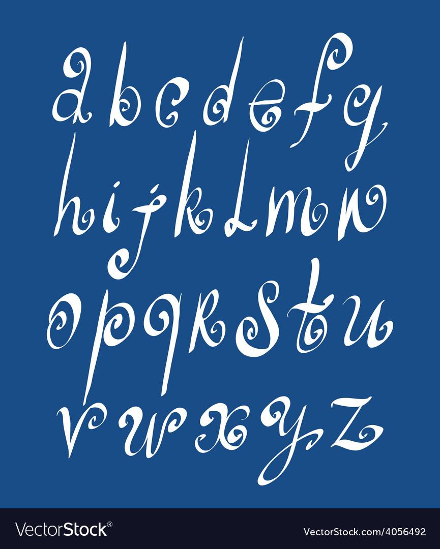 Handwritten script alphabet letters set vector | Price: 1 Credit (USD $1)