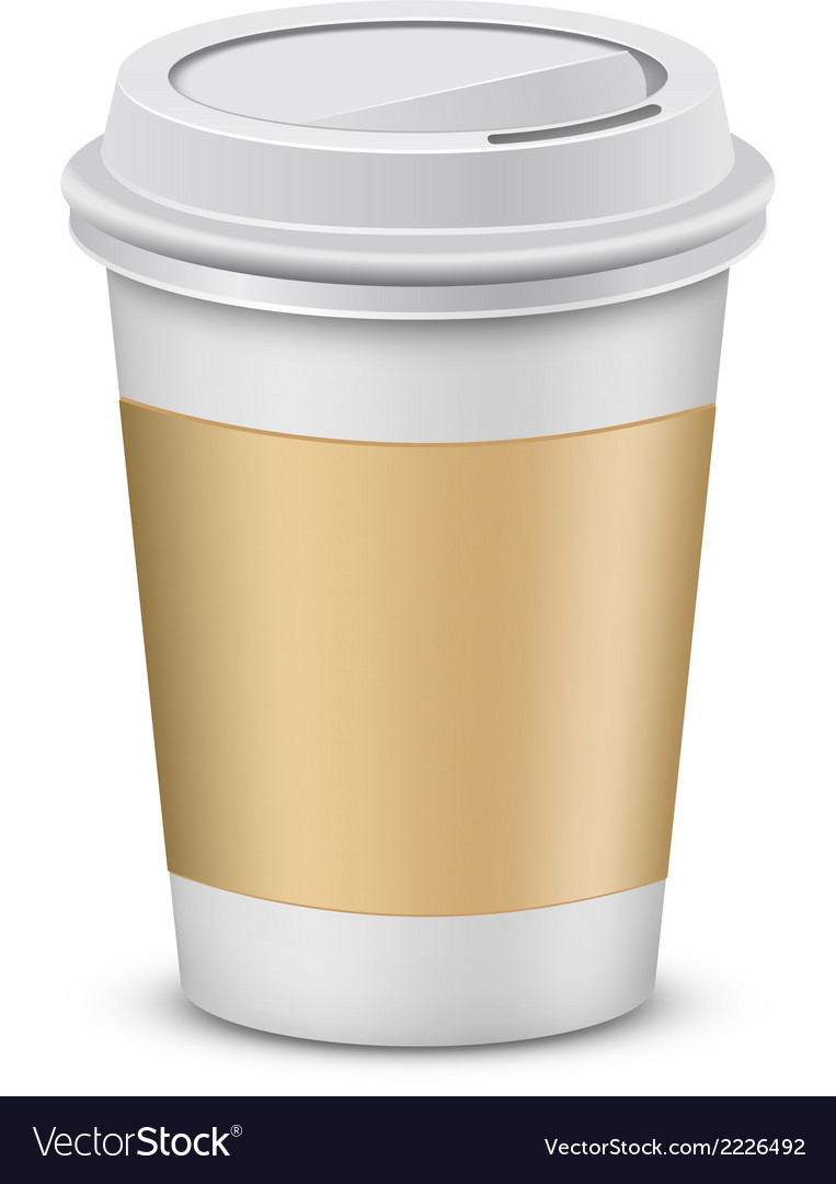 Plastic coffee cups with lid vector | Price: 1 Credit (USD $1)