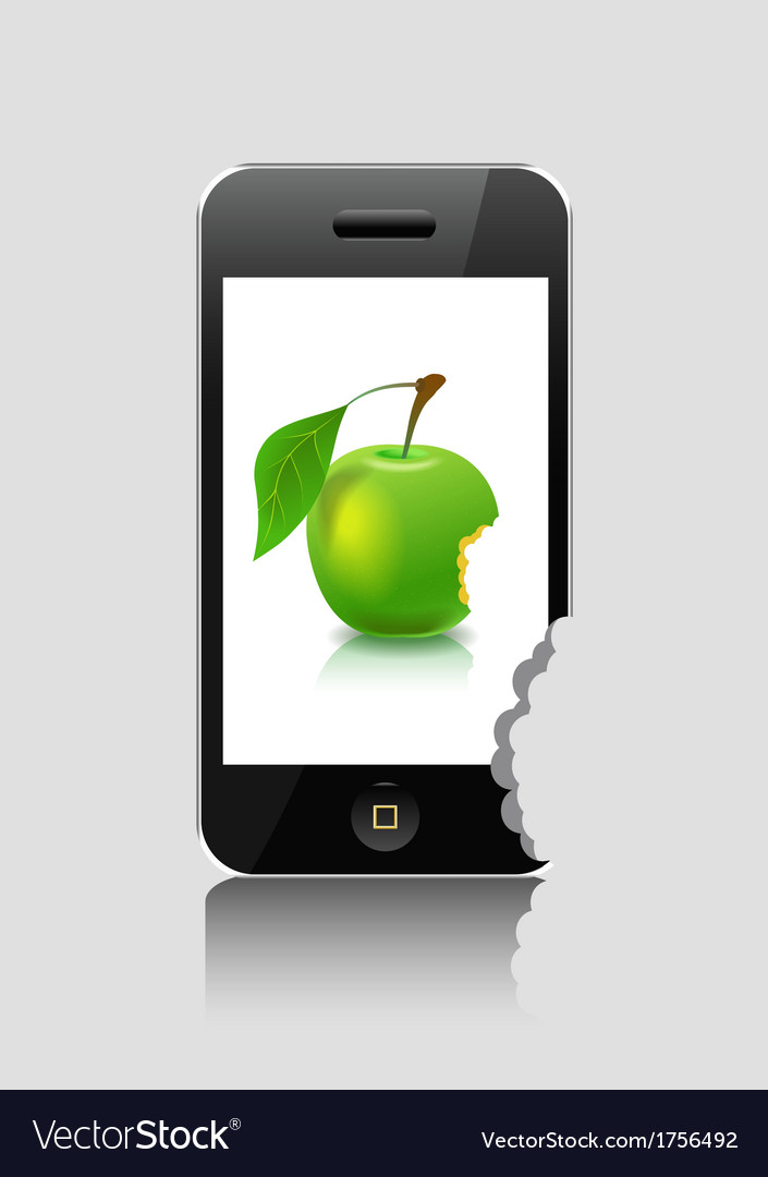 Player and green apple vector | Price: 1 Credit (USD $1)