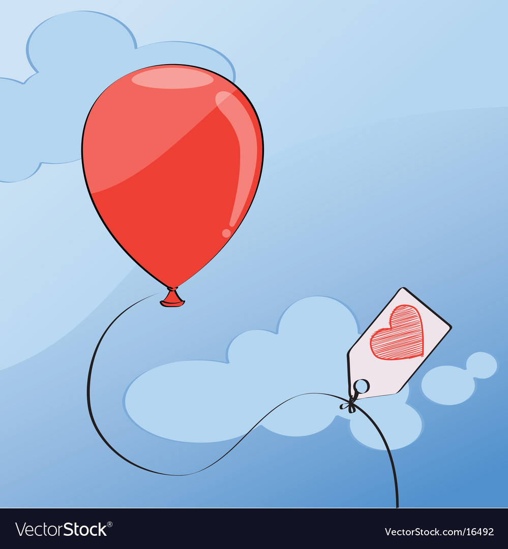Red balloon vector | Price: 1 Credit (USD $1)
