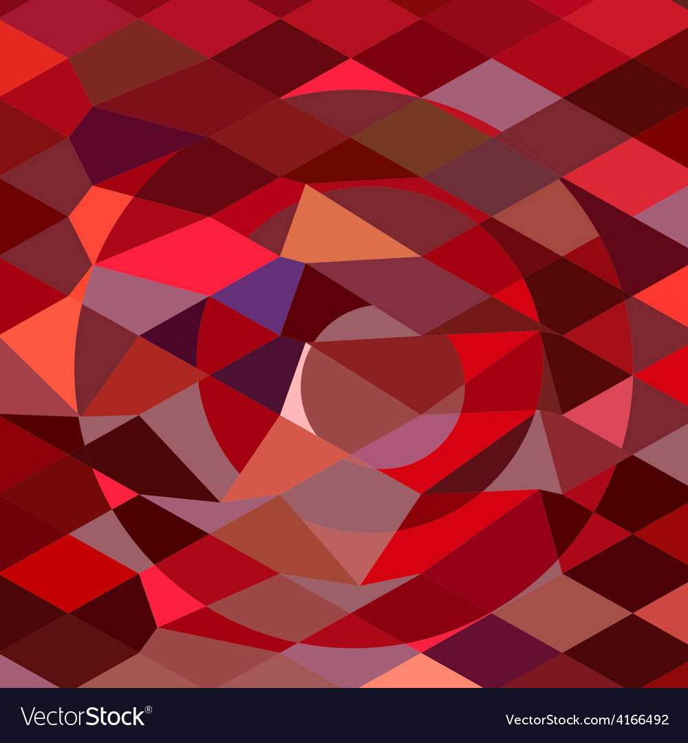 Rising sun abstract low polygon background vector | Price: 1 Credit (USD $1)