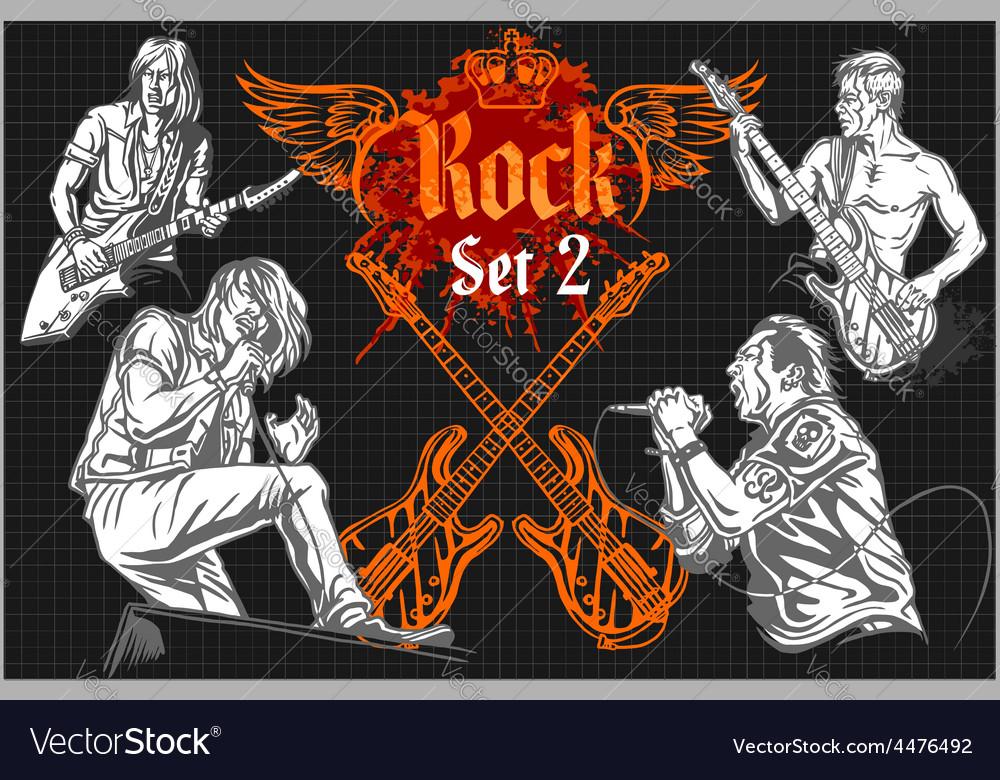 Rock concert poster - 1980s vector | Price: 1 Credit (USD $1)