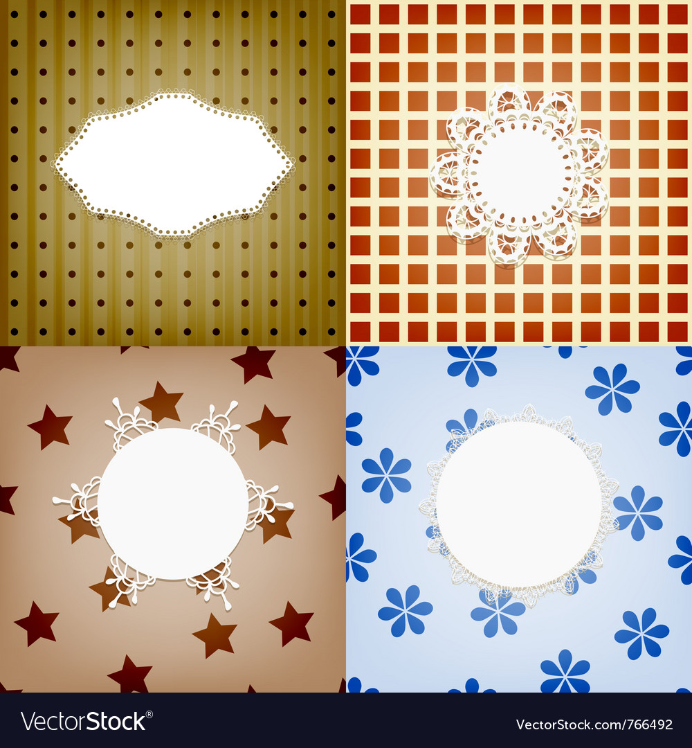 Set of four lacy napkins vector | Price: 1 Credit (USD $1)