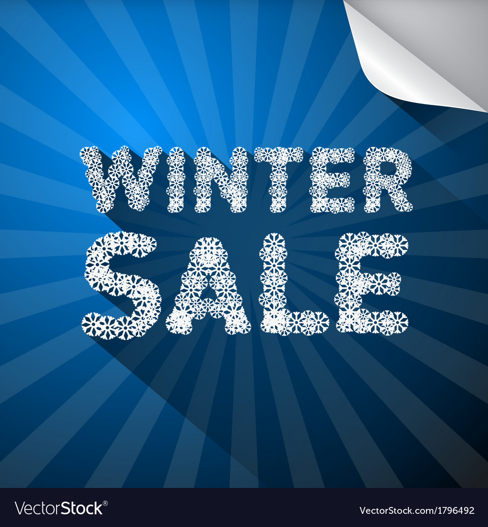Winter sale title made from snowflakes on blue vector | Price: 1 Credit (USD $1)