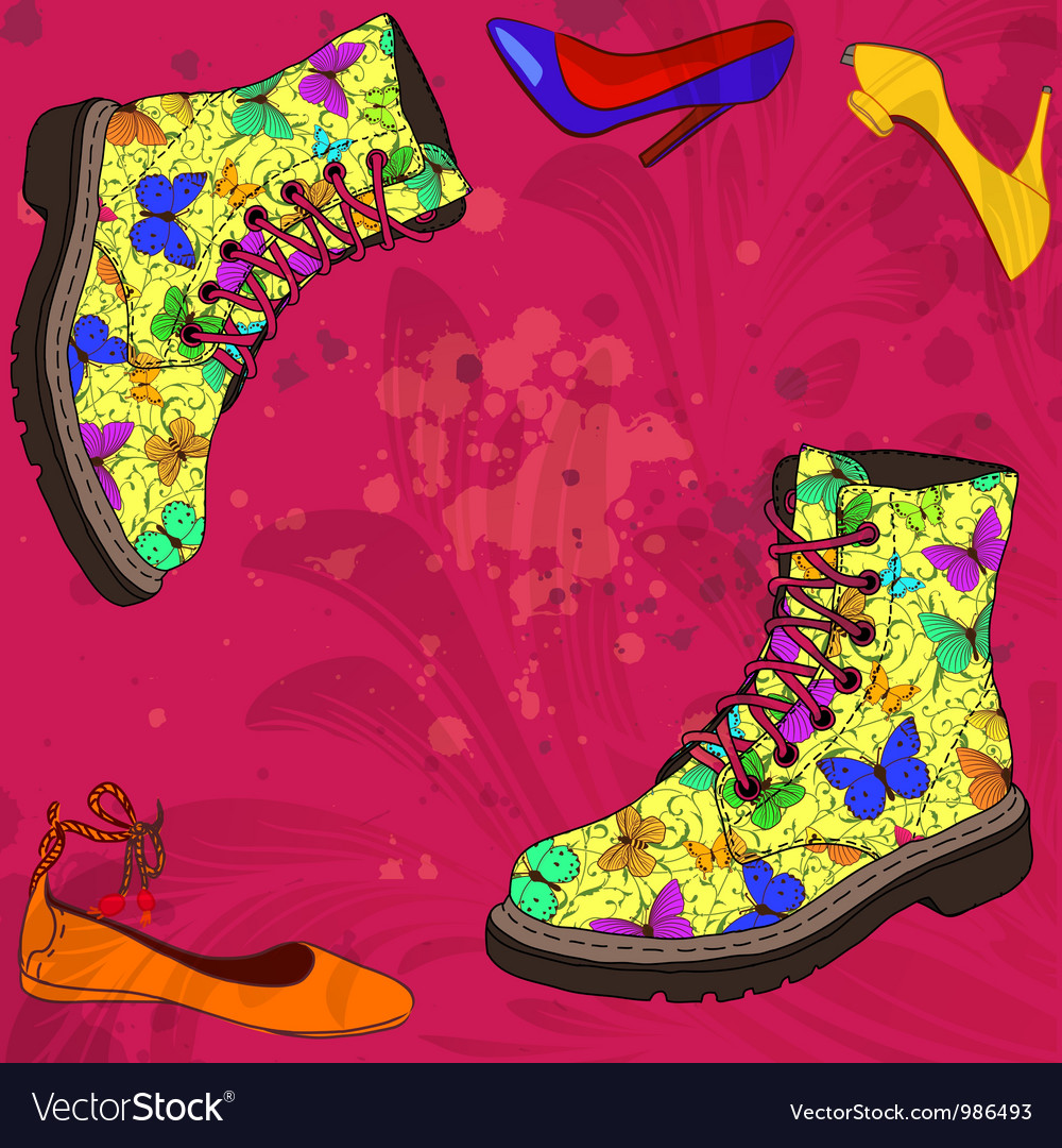 Background with woman shoes vector | Price: 1 Credit (USD $1)
