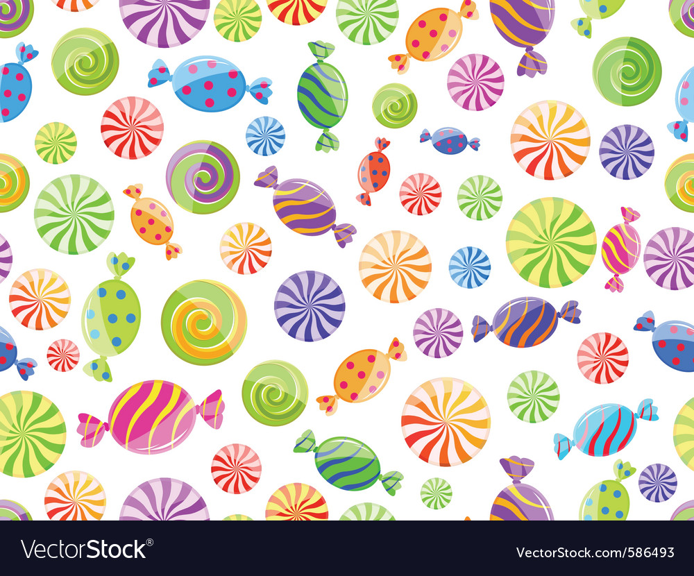 Candy seamless pattern vector | Price: 1 Credit (USD $1)