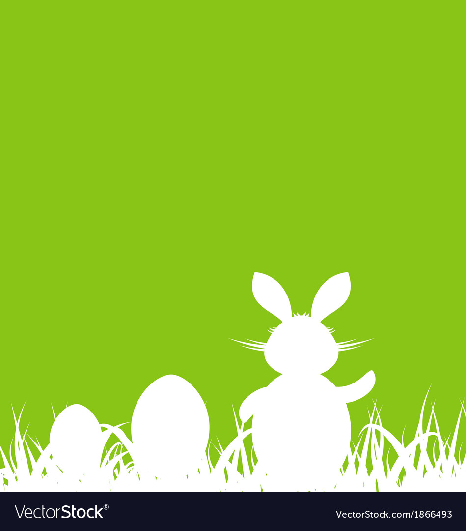 Cartoon green background with easter rabbit and vector | Price: 1 Credit (USD $1)