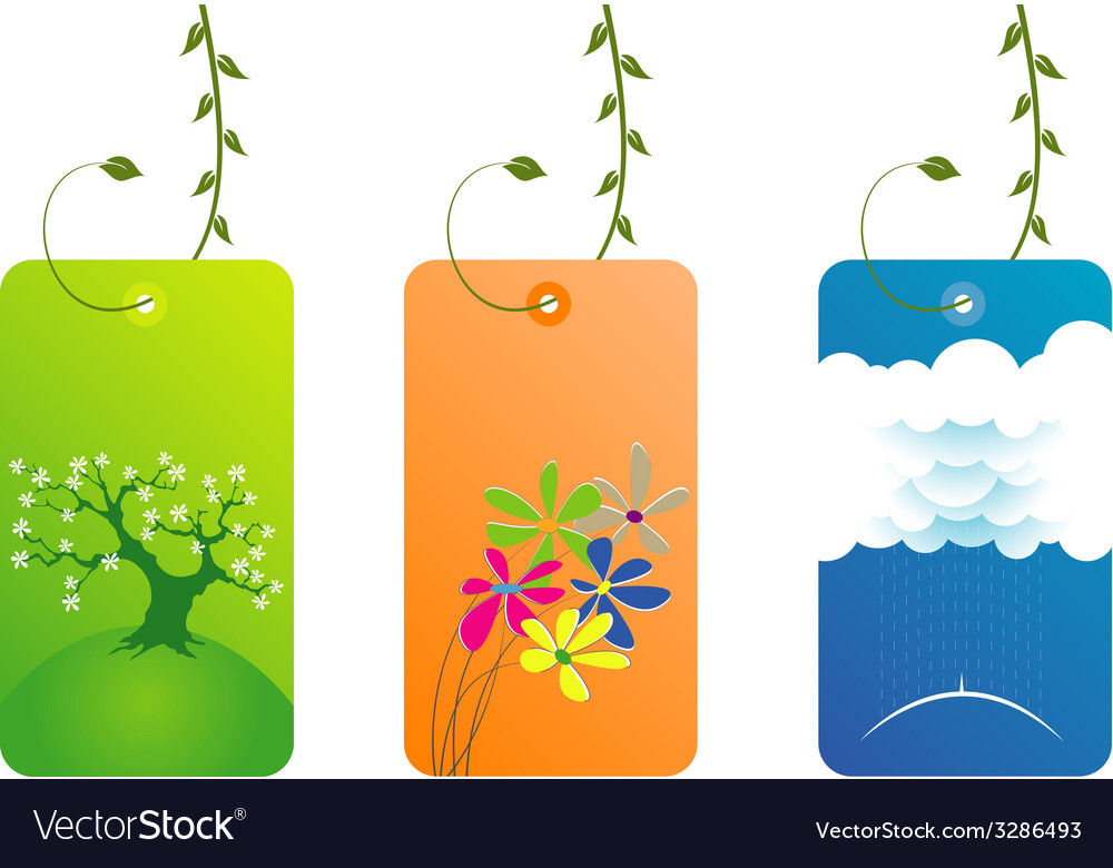 Elegant fresh business cards with leaves vector | Price: 1 Credit (USD $1)