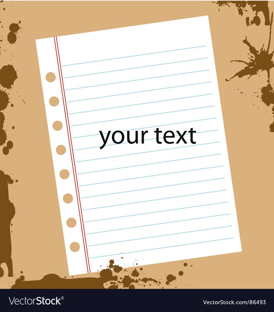 Grunge textpaper vector | Price: 1 Credit (USD $1)