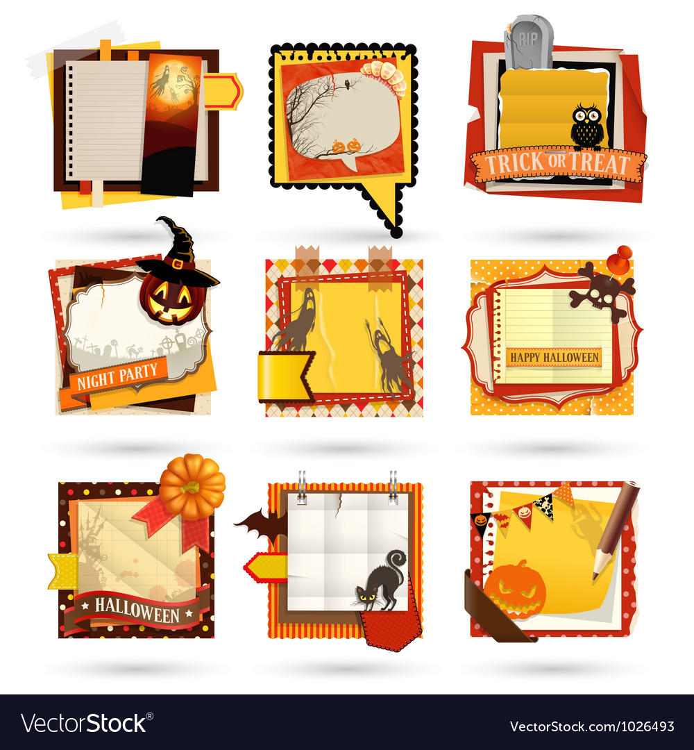 Halloweenl notes vector | Price: 3 Credit (USD $3)