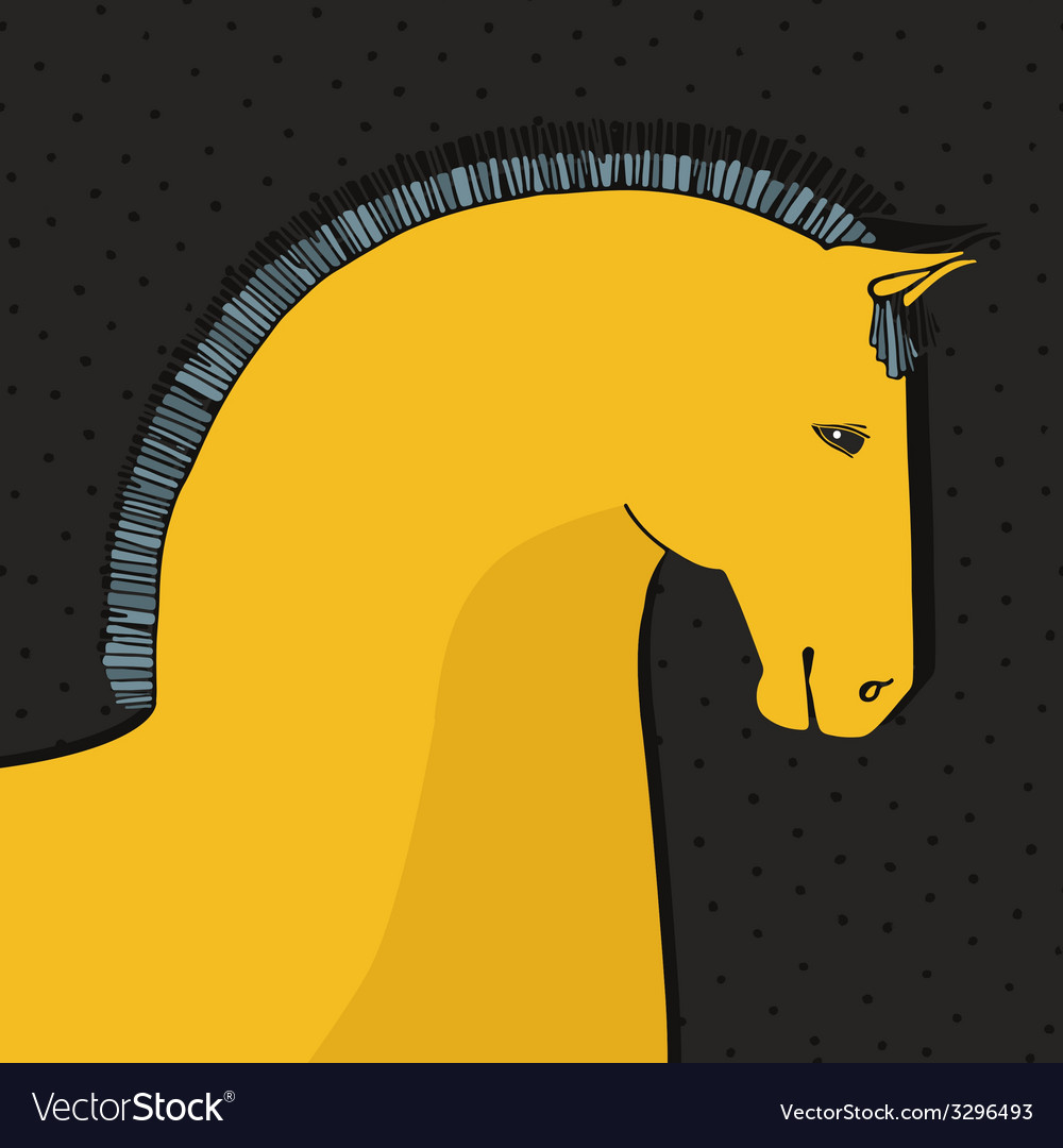 Horse card vector | Price: 1 Credit (USD $1)