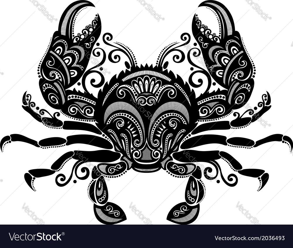 Ornate sea crab vector | Price: 1 Credit (USD $1)