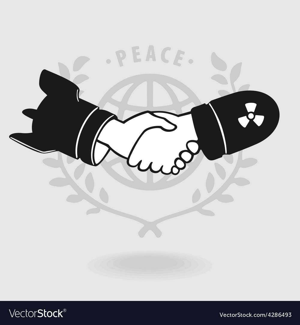 Symbol shaking truce vector | Price: 1 Credit (USD $1)