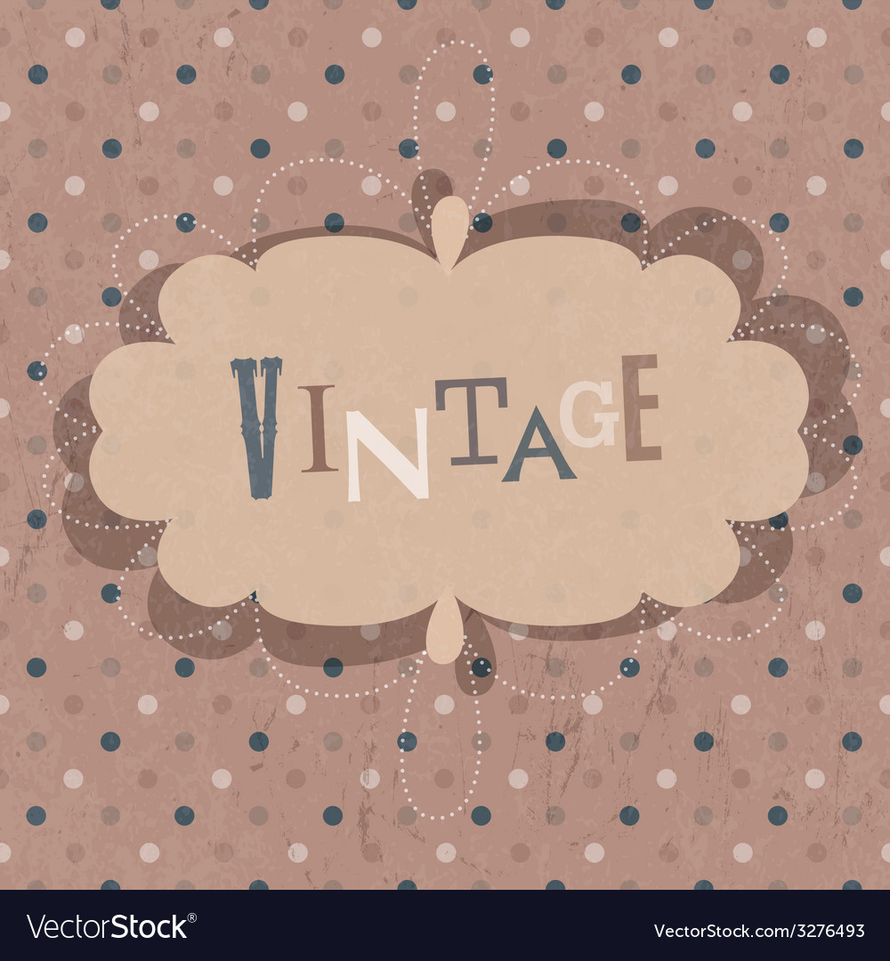 Vintage design card vector | Price: 1 Credit (USD $1)