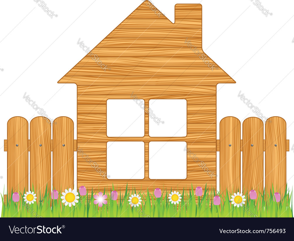 Wooden house vector   Price: 1 Credit (USD $1)
