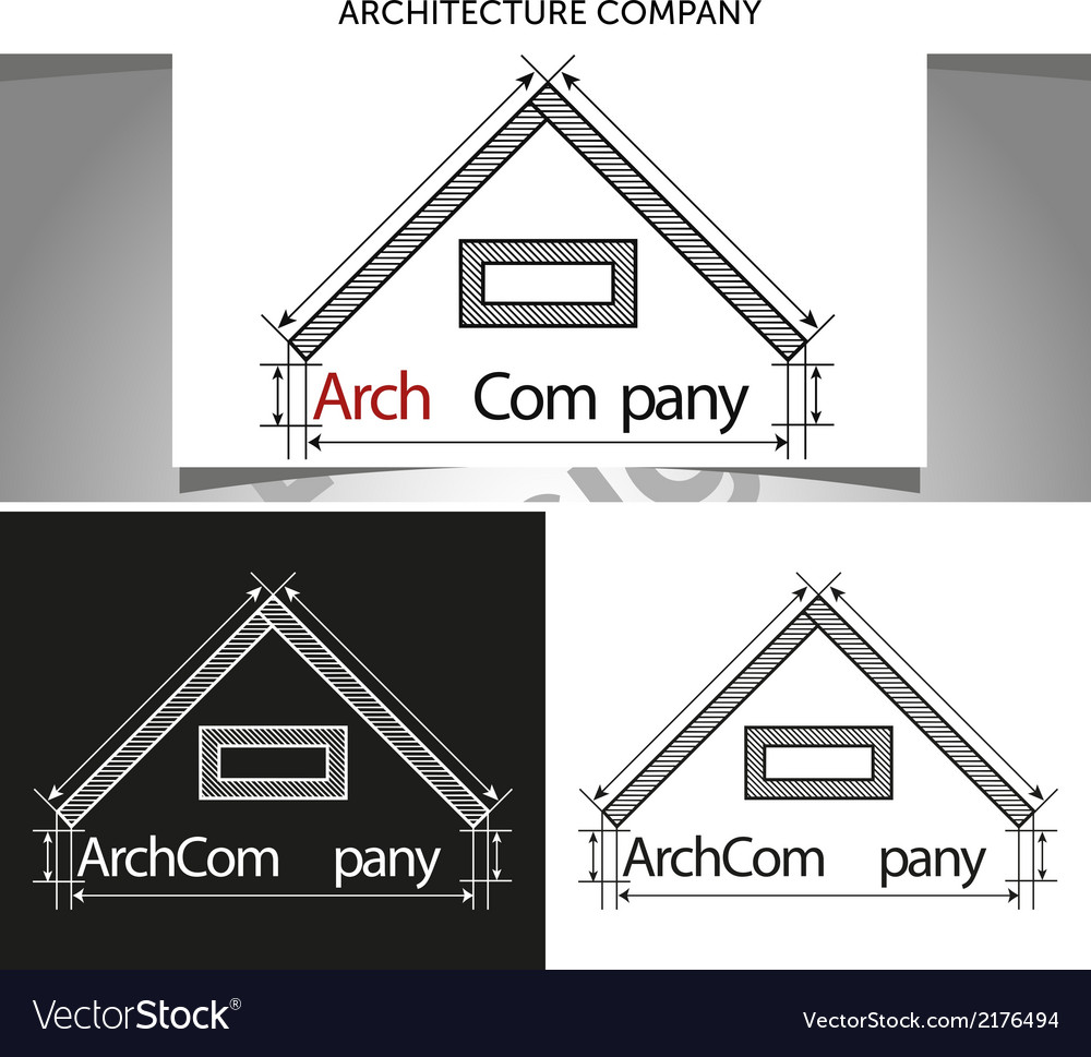 Arch company logo template vector | Price: 1 Credit (USD $1)