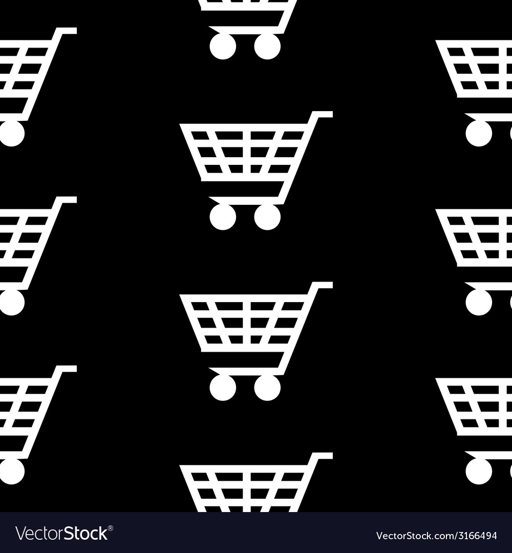 Cart icon seamless pattern vector | Price: 1 Credit (USD $1)