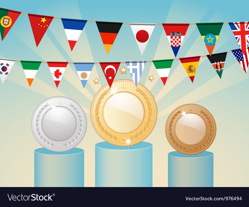 International competition awards vector | Price: 1 Credit (USD $1)