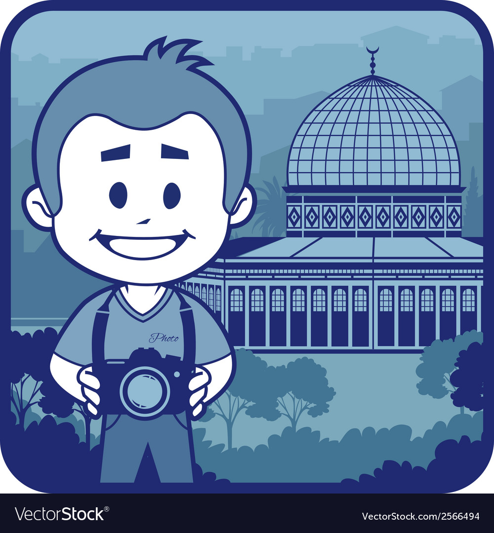 With holy sepulcher in israel vector | Price: 1 Credit (USD $1)