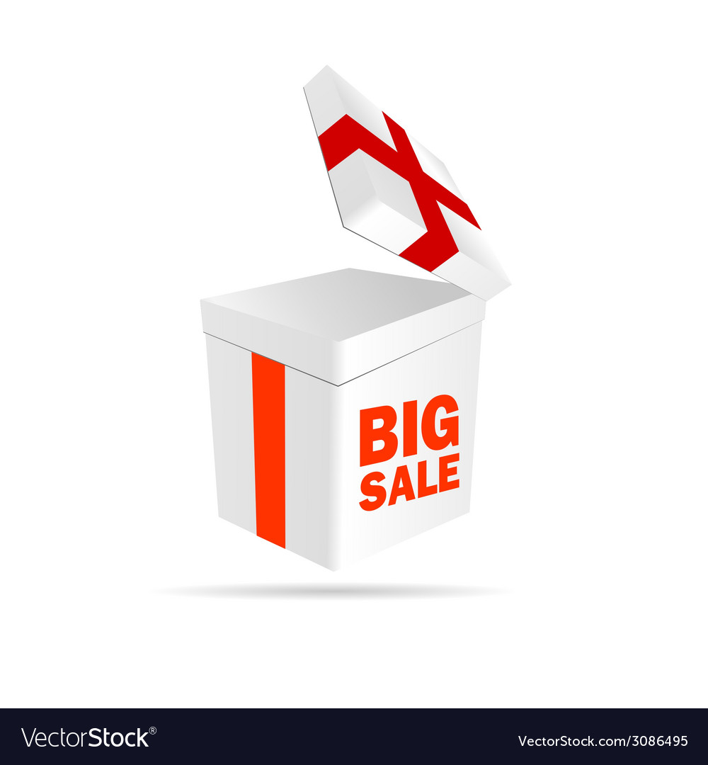 Big sale sign on package color vector | Price: 1 Credit (USD $1)