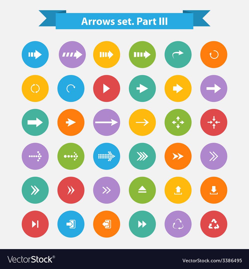 Big set arrows in flat style vector | Price: 1 Credit (USD $1)