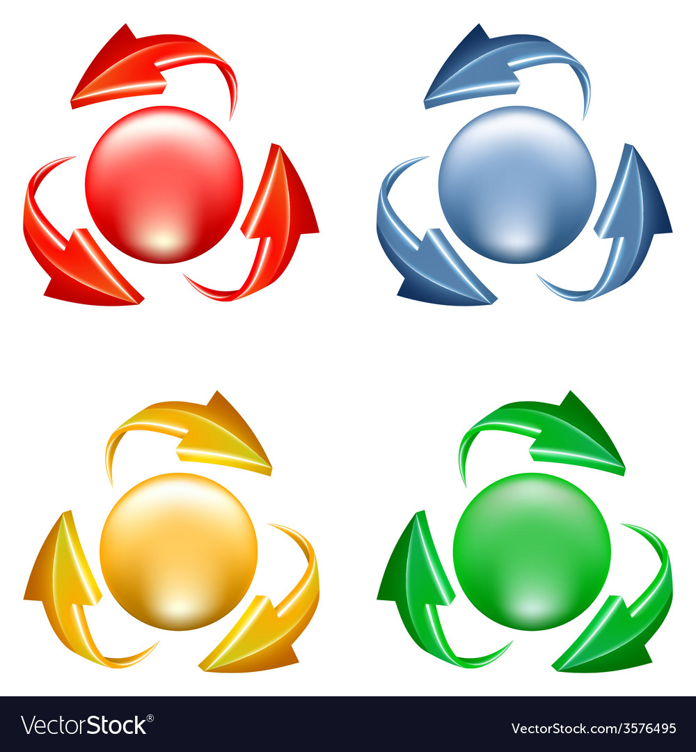 Buttons set with arrows vector | Price: 1 Credit (USD $1)