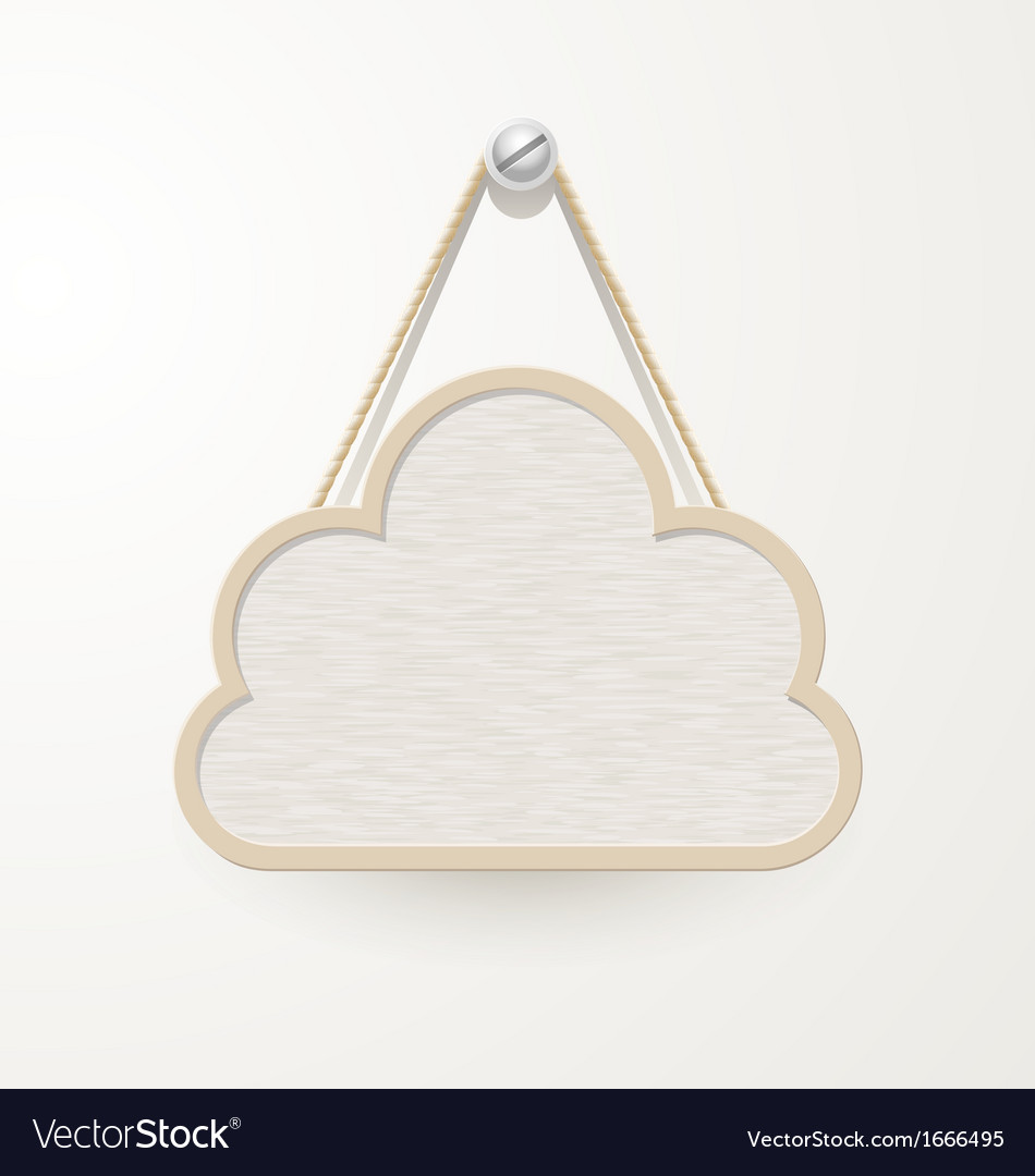 Cloud wooden plate vector | Price: 1 Credit (USD $1)