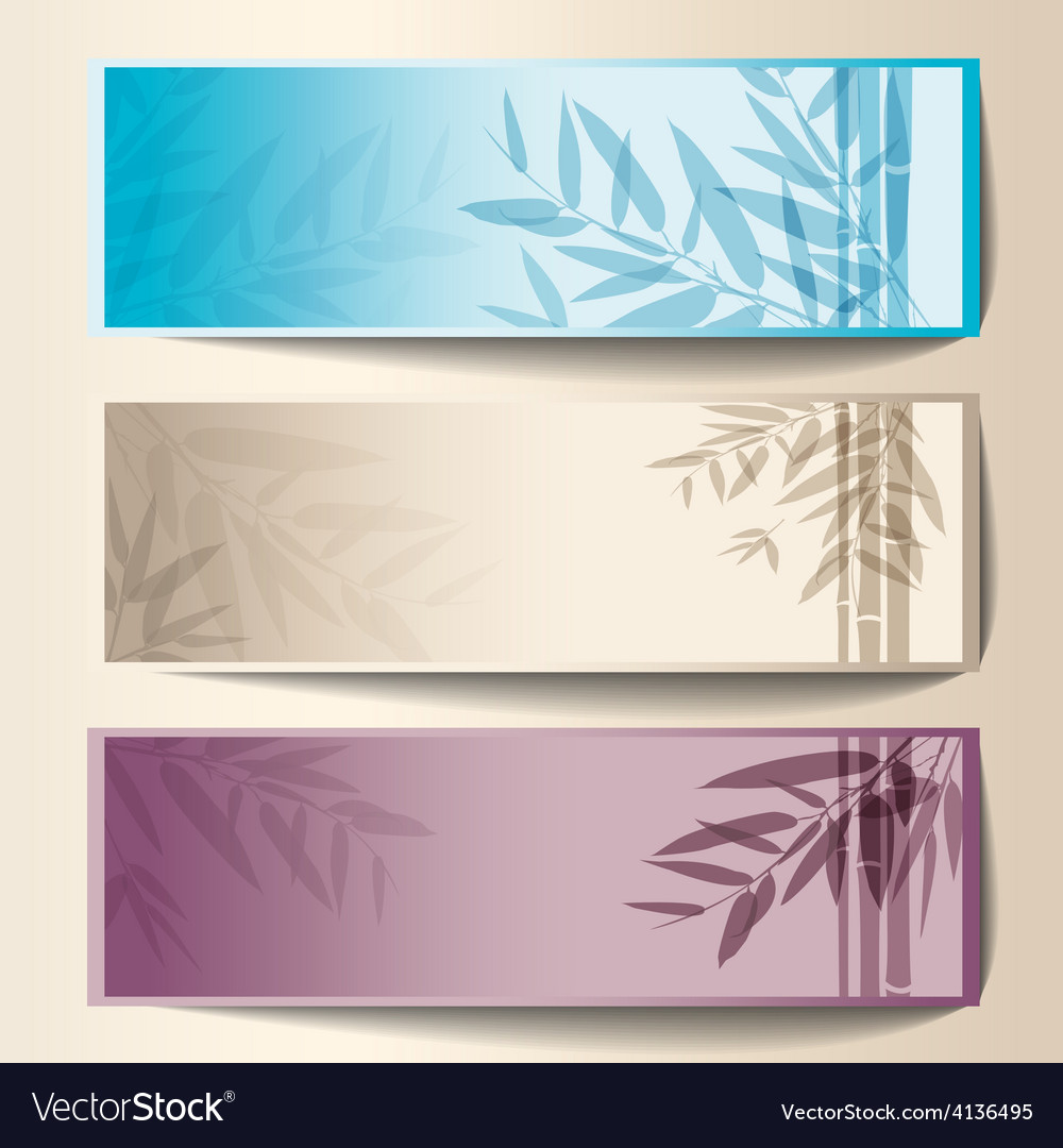 Colorful banners with the tree branches vector   Price: 1 Credit (USD $1)