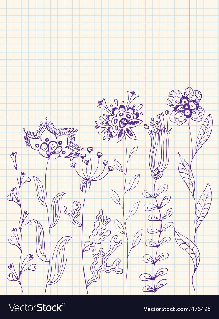 Floral doodles vector   Price: 1 Credit (USD $1)