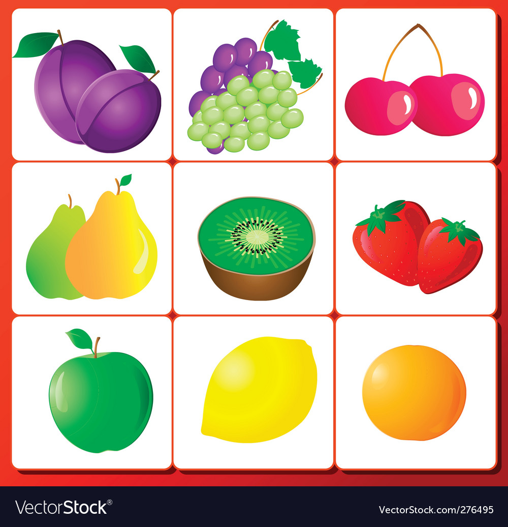 Fruit number vector | Price: 3 Credit (USD $3)