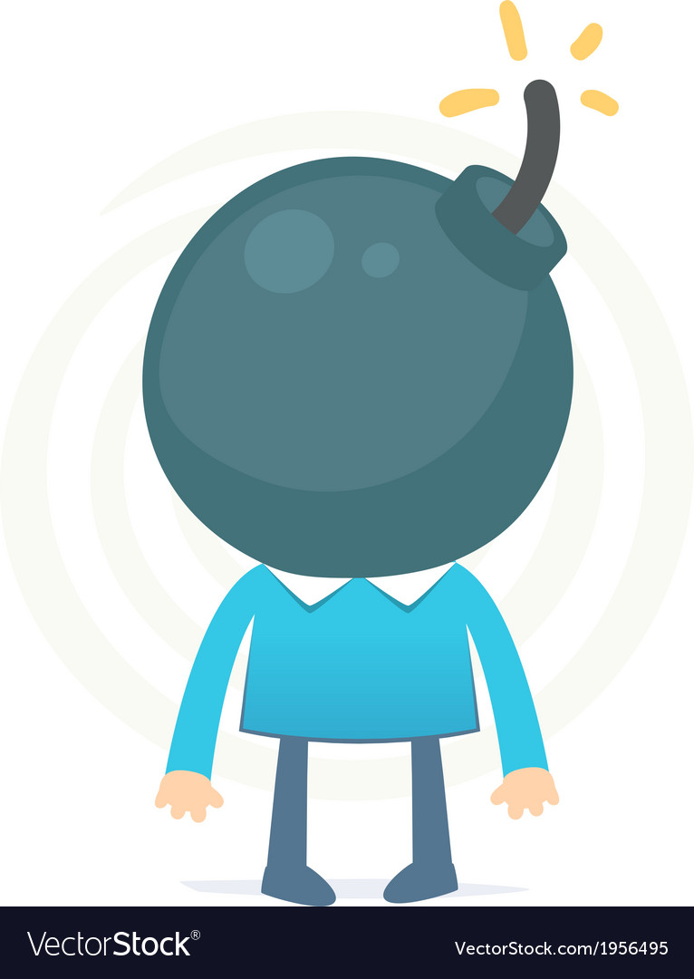 Head like a bomb might explode from the excess vector | Price: 1 Credit (USD $1)