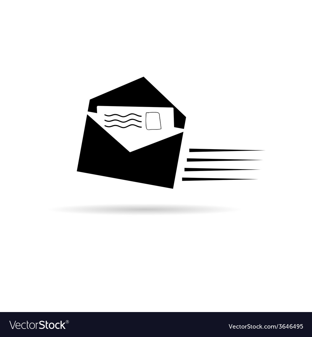Letter black and white vector | Price: 1 Credit (USD $1)