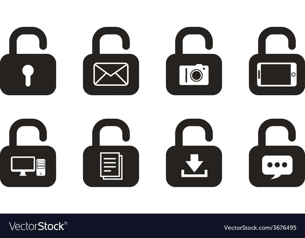 Locks icons vector | Price: 1 Credit (USD $1)