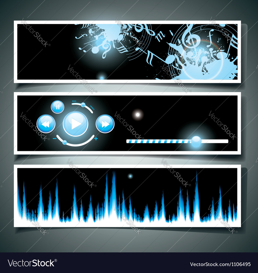 Music webpage vector | Price: 1 Credit (USD $1)
