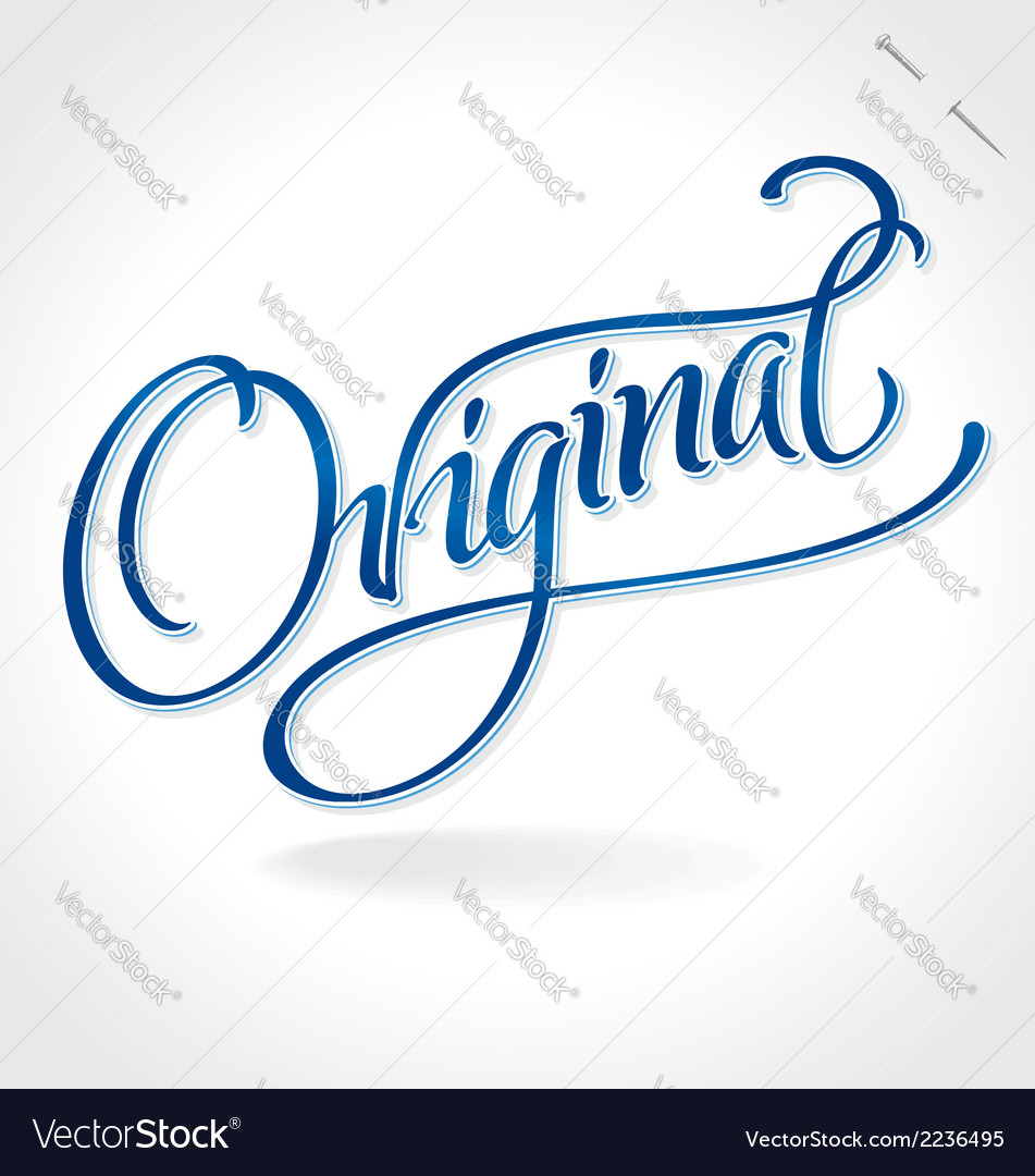 Original hand lettering vector | Price: 1 Credit (USD $1)