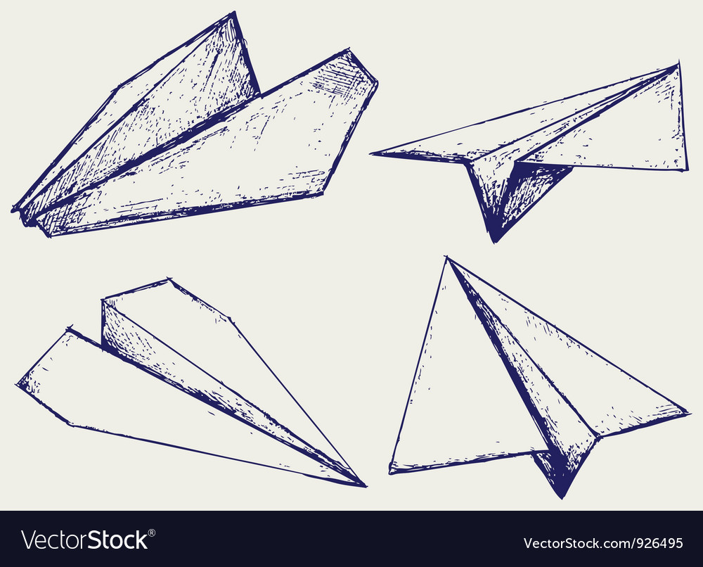 Paper planes vector | Price: 1 Credit (USD $1)